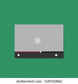 UI video screen. Vector design illustration