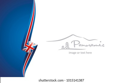 UK abstract flag brochure cover poster wall mural background vector