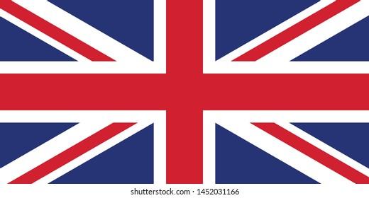 UK Flag illustration,textured background, Symbols of UK - Vector