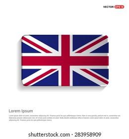 UK flag isolated on white background - vector illustration