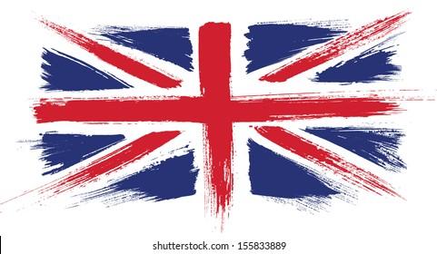 UK flag. United Kingdom, Great Britain flag