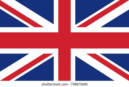 UK flag. Vector illustration.
