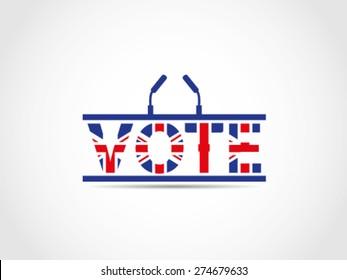 UK Great Britain Elections Podium Text Vote Illustration