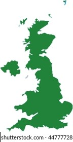 UK map (Great Britain and Northern Ireland) - isolated  vector illustration