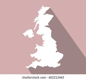 UK Map vector icon