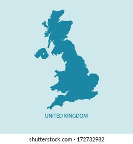 UK MAP VECTOR, UNITED KINGDOM MAP, BRITAIN MAP