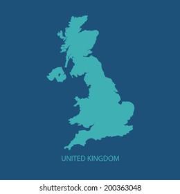 UK MAP VECTOR, UNITED KINGDOM MAP, BRITAIN MAP