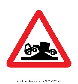 UK Risk of Grounding for Lorries Ahead Sign