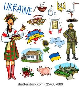 Ukraine cartoon collection