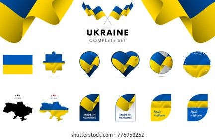Ukraine complete set. Vector illustration.