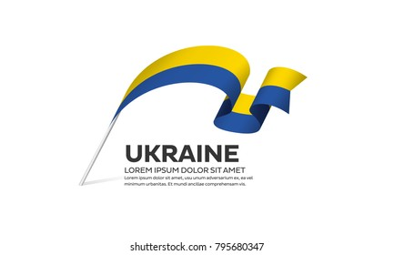Ukraine flag background