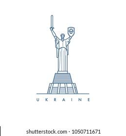 Ukraine. Kiev. Vector illustration.