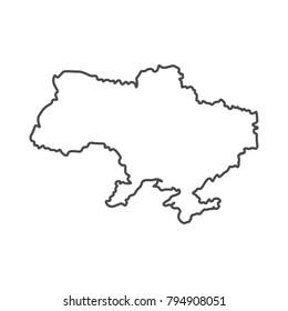 Ukraine map geography