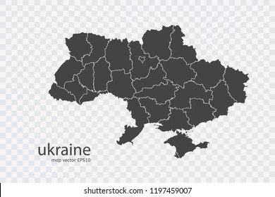 ukraine map vector, isolated on transparent background