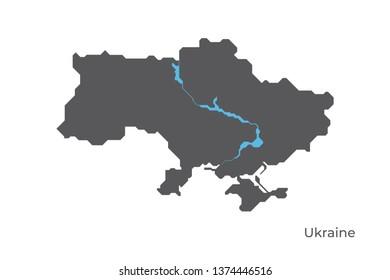 Imágenes, fotos de stock y vectores sobre Map Ukrain ...