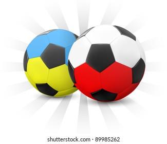 Ukraine & Poland Soccer 2012 (EPS10)