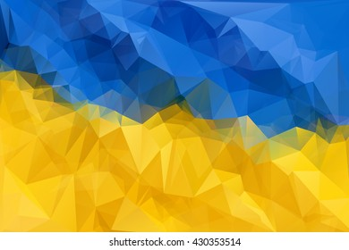 Ukraine vector flag. Blue and yellow Ukraine illustration. Ukraine flag isolated. Ukraine vector  background.