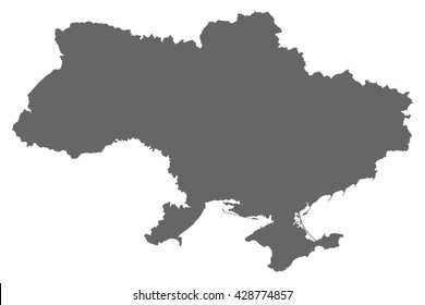 Ukraine vector map illustration on white isolated background grey