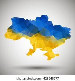 Ukraine vector vector map. Ukraine illustration on white  map isolated. Ukraine vector illustration. Ukraine background.