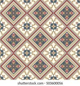 Ukrainian embroidery pattern. Seamless vector
