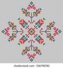 Ukrainian embroidery. Vector cross stitch ukrainian embroidery.