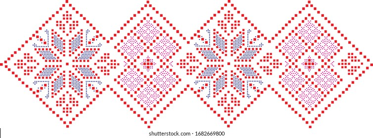 Ukrainian pattern in vector, Ukrainian symbols, embroidery