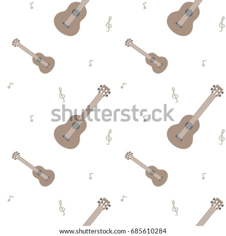 Ukulele Pattern Musical Instrument Wallpaper Background Image
