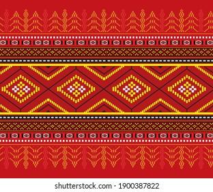 Ulos or Batak art knit fabrics are traditionally made using natural colors and materials