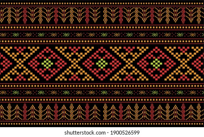Ulos Batak Toba in black red and gold, elegant design
