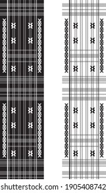 Ulos Batak Toba with black and white patterns