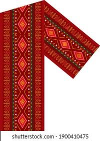 Ulos Batak Toba, traditional Batak cloth. cloth with a red, black, white pattern.