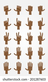 Ultimate Cartoon Hands Collection - Dark-skinned 2.