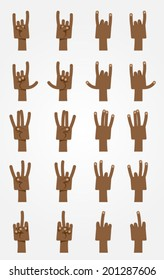 Ultimate Cartoon Hands Collection - Dark-skinned 3.