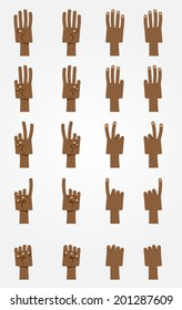 Ultimate Cartoon Hands Collection - Dark-skinned 1.
