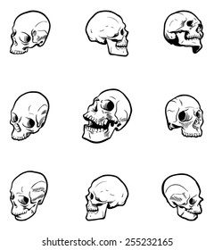 Ultimate Hand-drawn Skull Set 1.