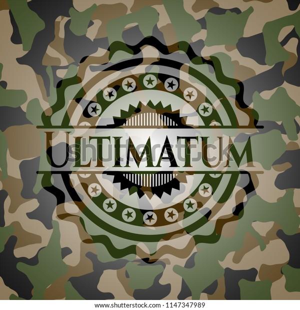 Ultimatum camouflaged emblem