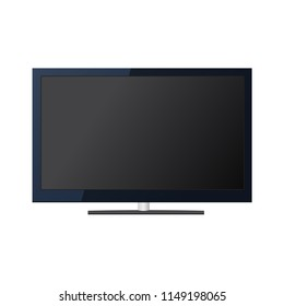 Ultra high definition digital television screen or computer PC monitor. Vector illustration.