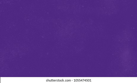 Ultra violet color vector background with vintage halftone texture overlay. Horizontal trendy purple banner template