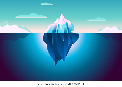Ultra Violet Vector Iceberg Background