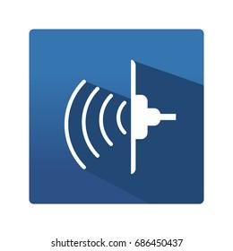 Ultrasonic pictogram. Industrial ultrasonic flat icon.