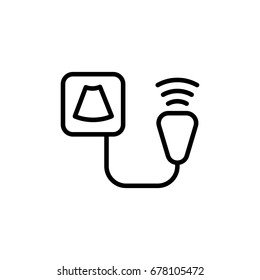 ultrasound device icon on white background