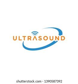 Ultrasound Logo Design Template, Wifi