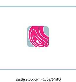 Ultrasound logo. Sonography. Abstract belly with waves. Logo design template.