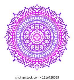 Ultraviolet mandala. Vector.