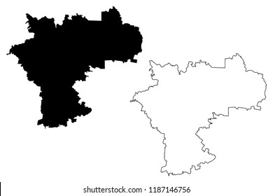 Ulyanovsk Oblast (Russia, Subjects of the Russian Federation, Oblasts of Russia) map vector illustration, scribble sketch Ulyanovsk Oblast map