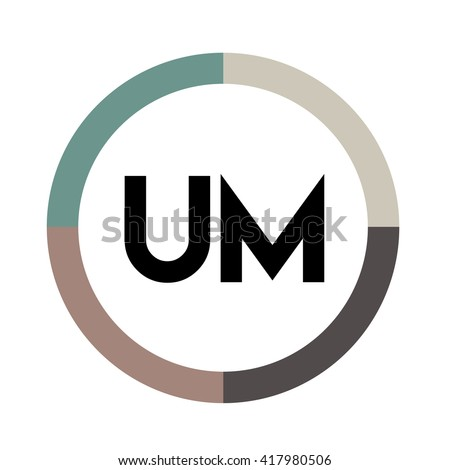 um letter four colors abstract background stock vector royalty free