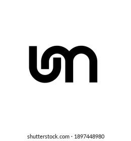 um lm minimal logo icon design vector isolated design
