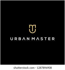 UM monogram logo design