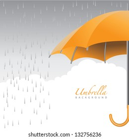 Umbrella Background. EPS 8 vector, grouped for easy editing. No open shapes or paths.