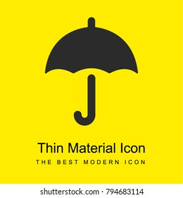 Umbrella bright yellow material minimal icon or logo design